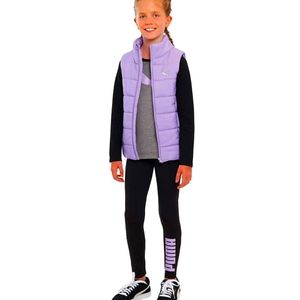 Puma Girls' Puffer Sleevless Jacket Purple Sz S